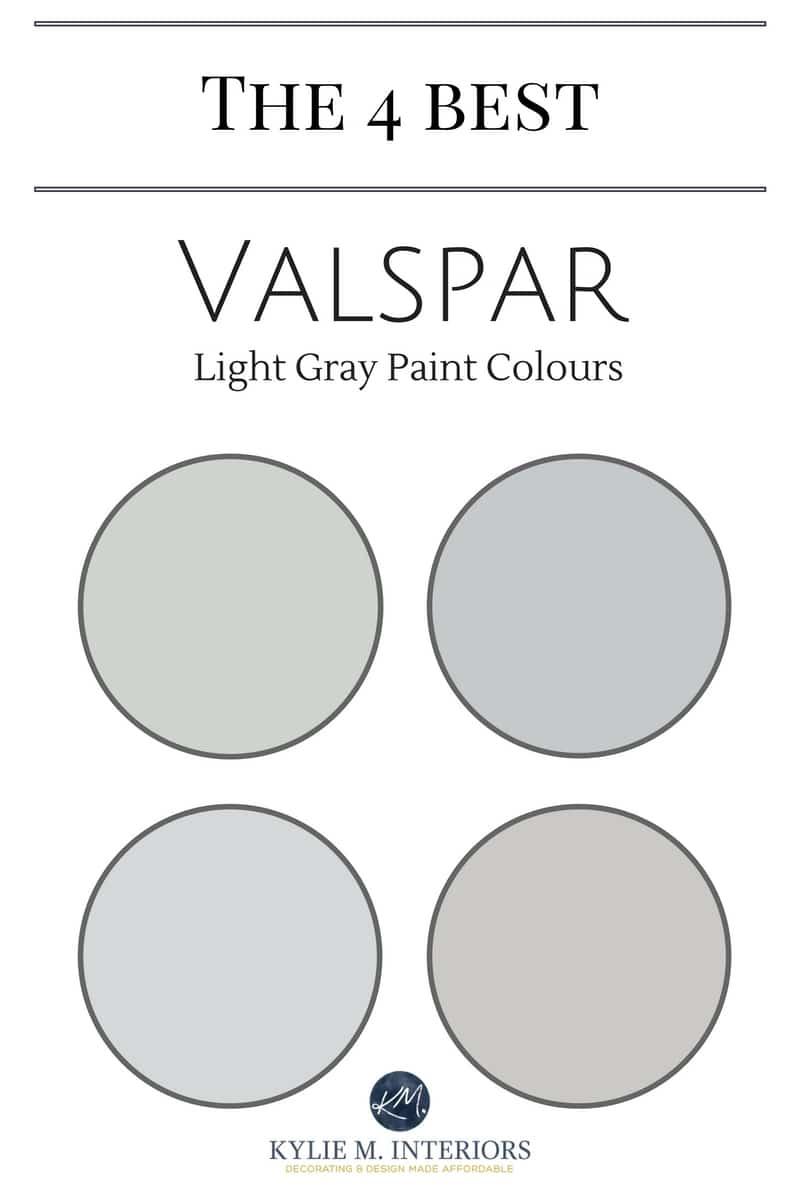 Valspar Paint 4 Best Light Gray Paint Colours Kylie M Interiors