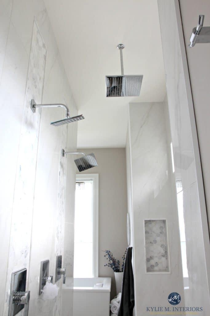 Walk in shower in ensuite bathroom rainhead double shower for Bathroom ideas double shower