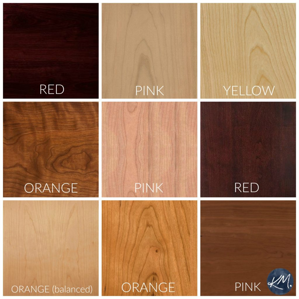 How to coordinate wood stains. Cherry stains. Kylie M Interiors Edesign