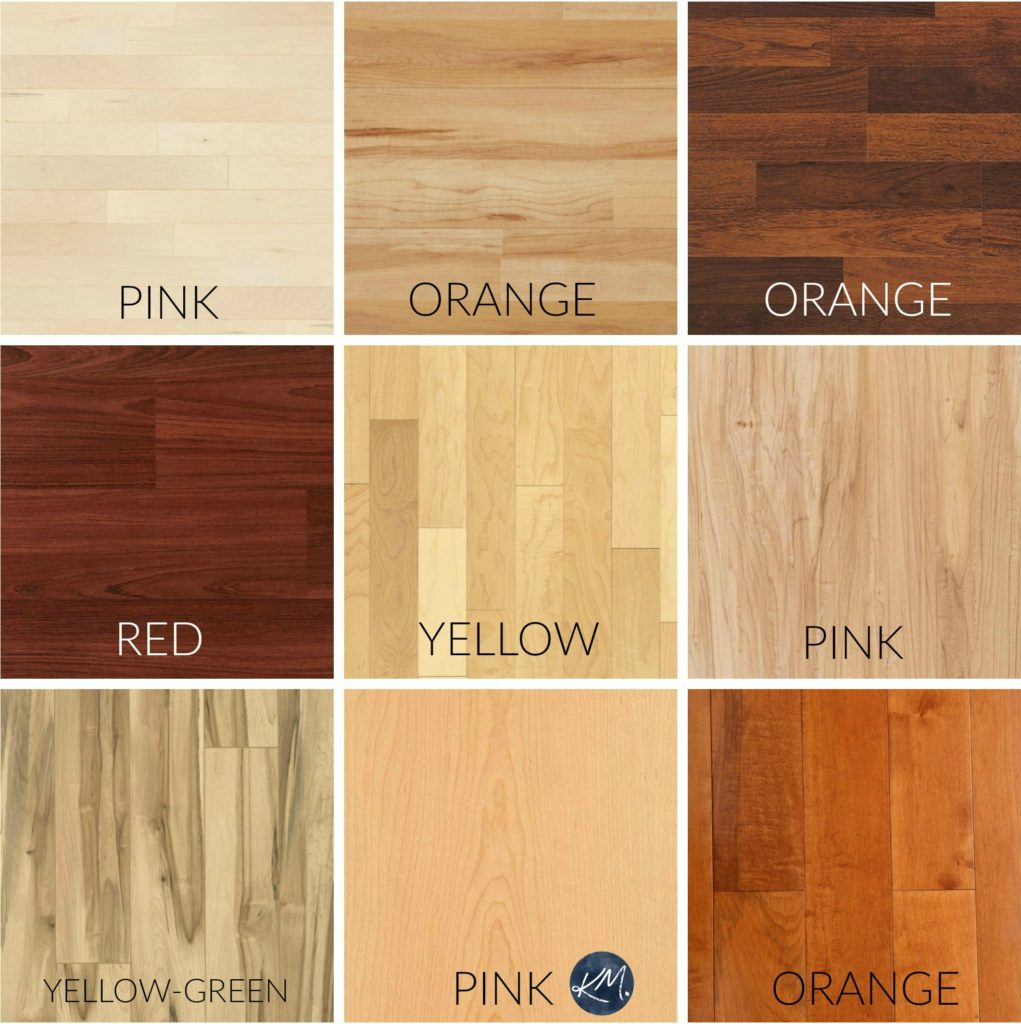 How to mix and match, coordinate wood finishes and stains. Maple, cherry, oak. Kylie M Interiors Edesign, online paint colour advice