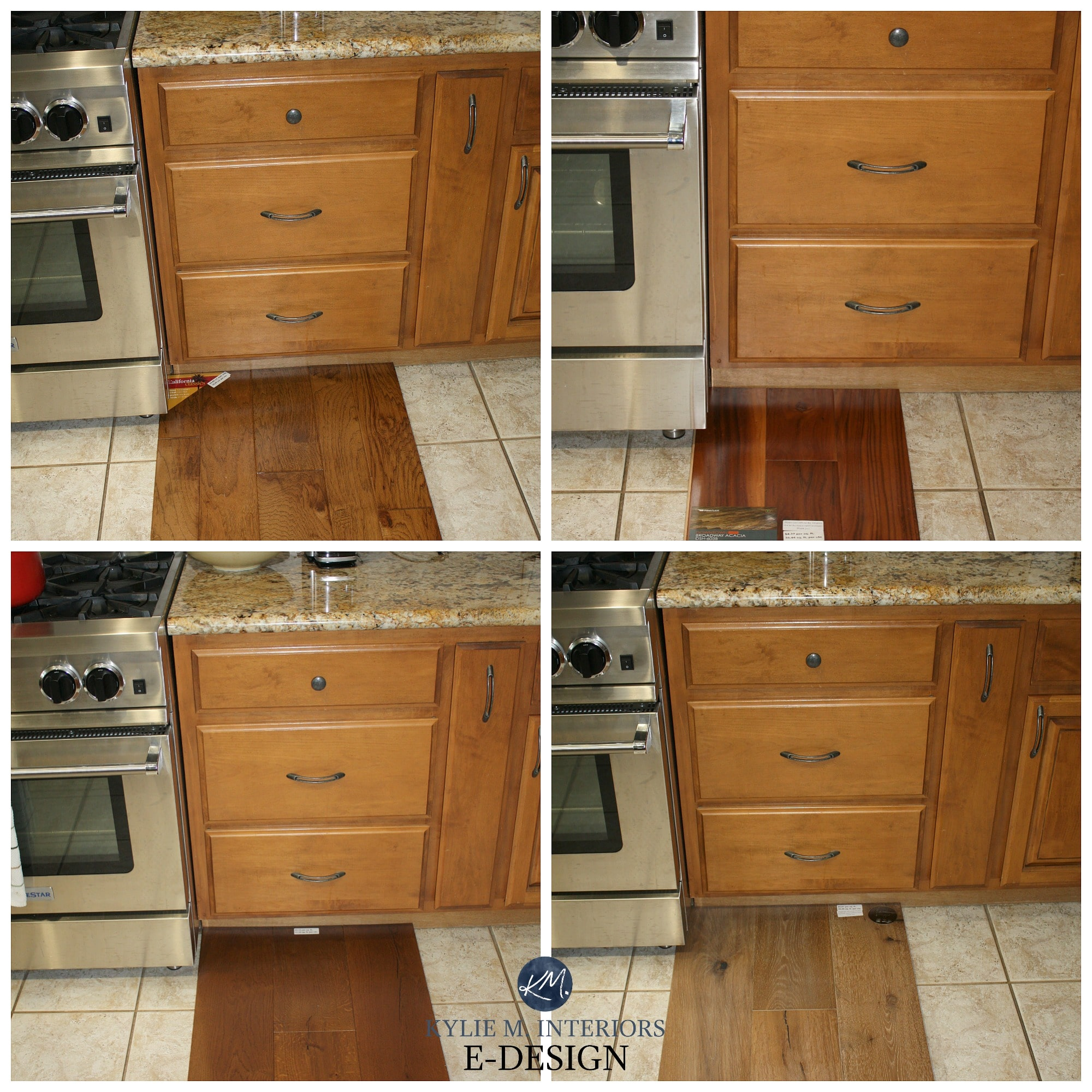 Refinishing Oak Kitchen Cabinets Ideas: How To Mix And Match Or Coordinate Wood And Stains In A