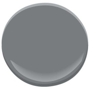 Benjamin Moore Amherst Gray is the best gray or charcoal for kitchen cabinets or bathroom vanities