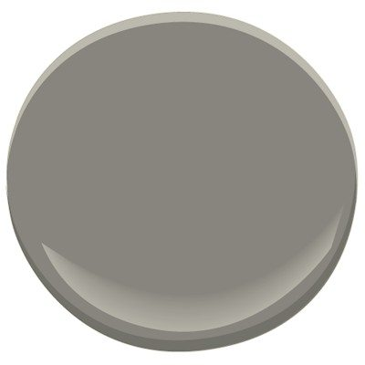 Benjamin Moore Metropolis is one of the best grey paint colours for kitchen cabinets or bathroom vanities