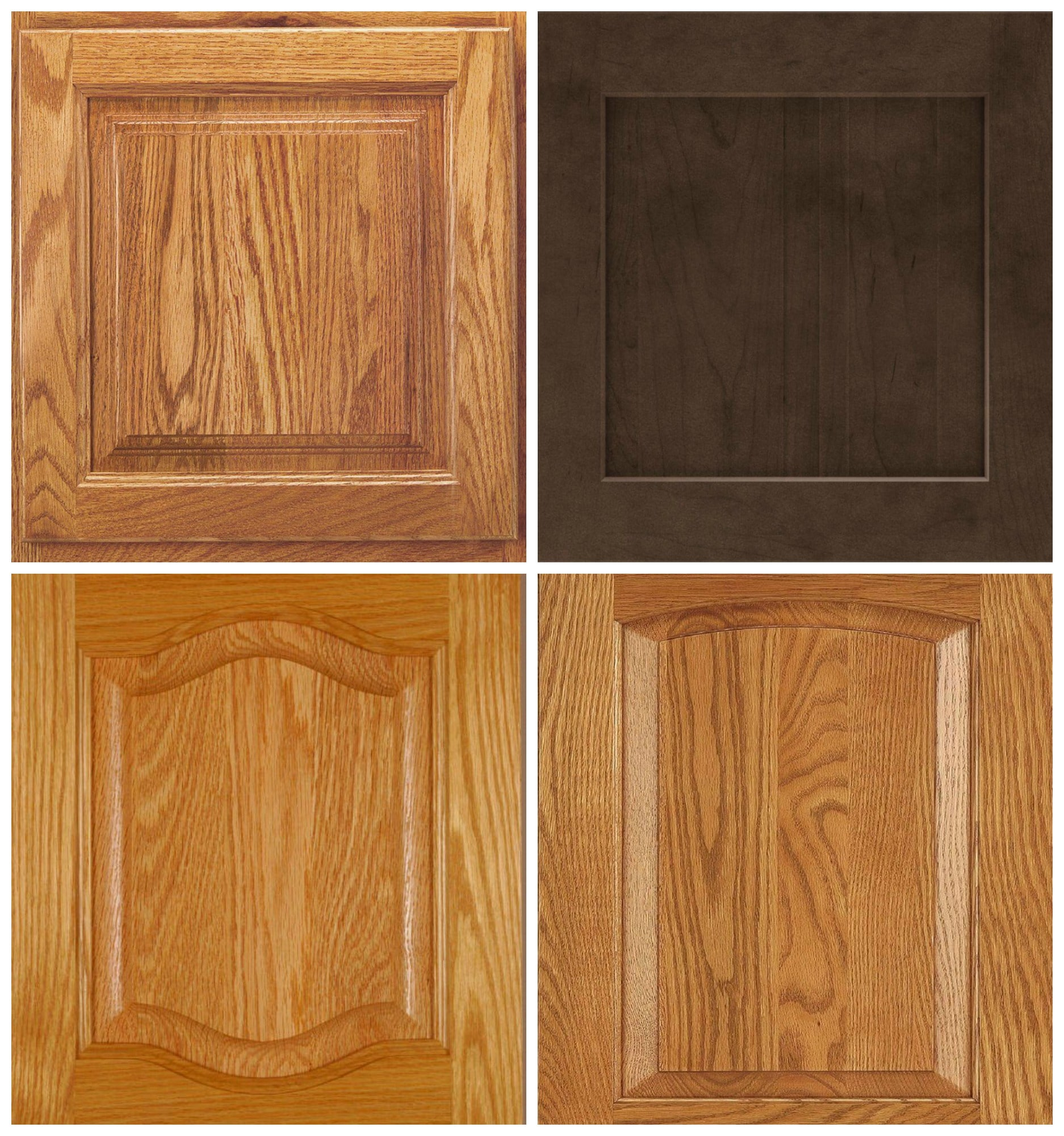 Brown Oak Kitchen Cabinets: Cabinet Door Profiles, Ideas To Update Oak Cabinets