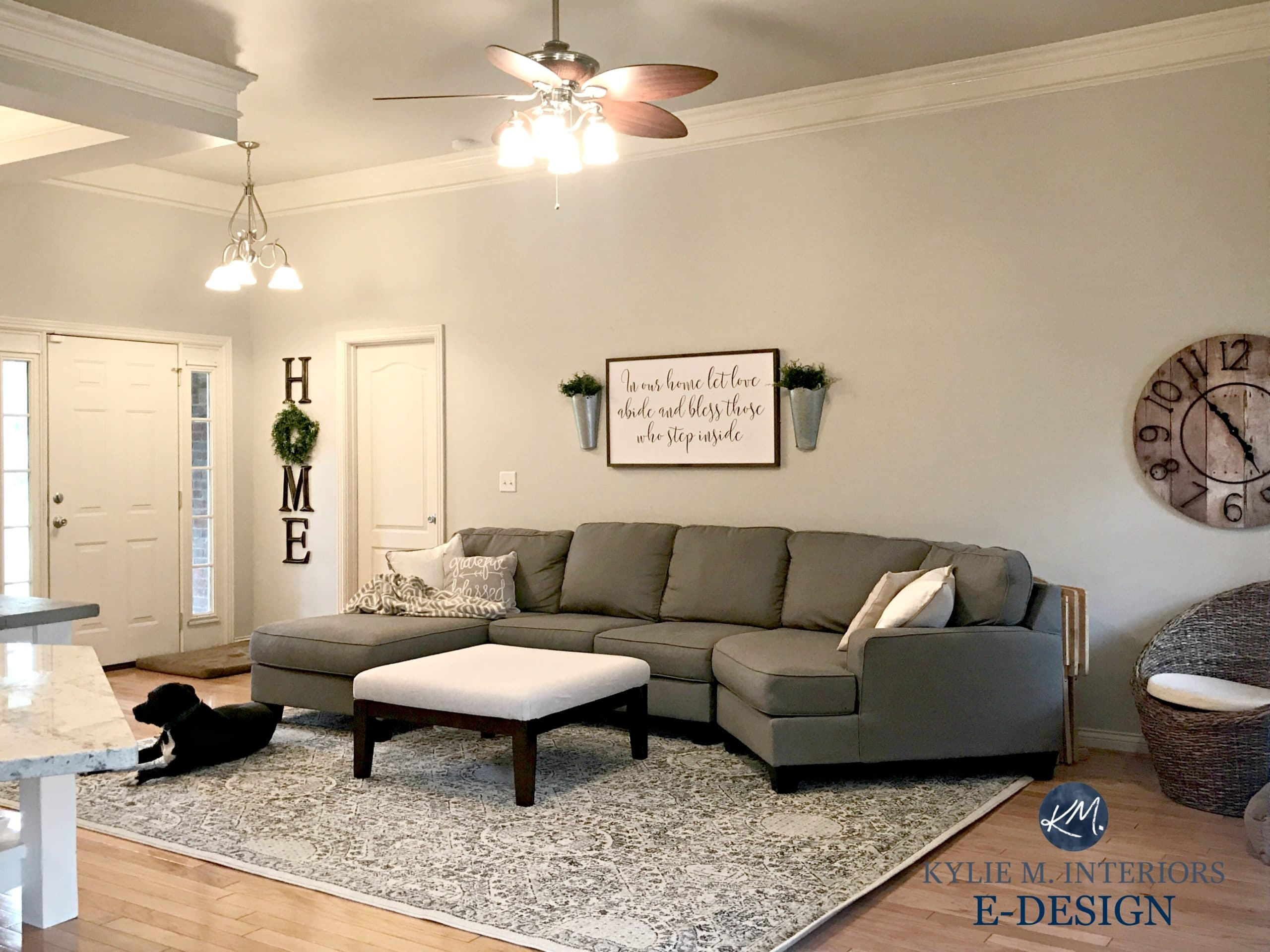 Sherwin williams agreeable gray in living room with gray - Grey paint living room ...