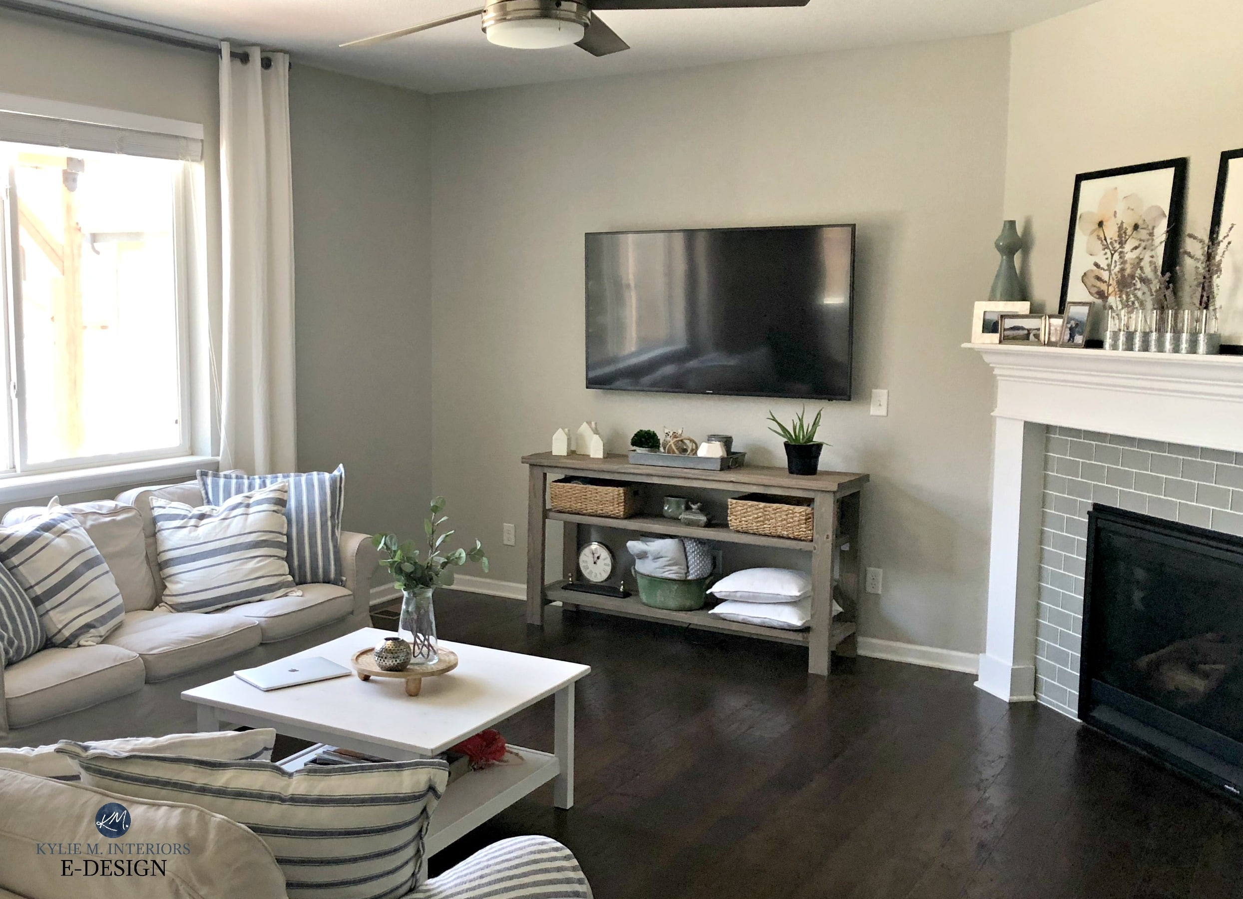 Sherwin williams repose gray in family or living room - Grey paint living room ...