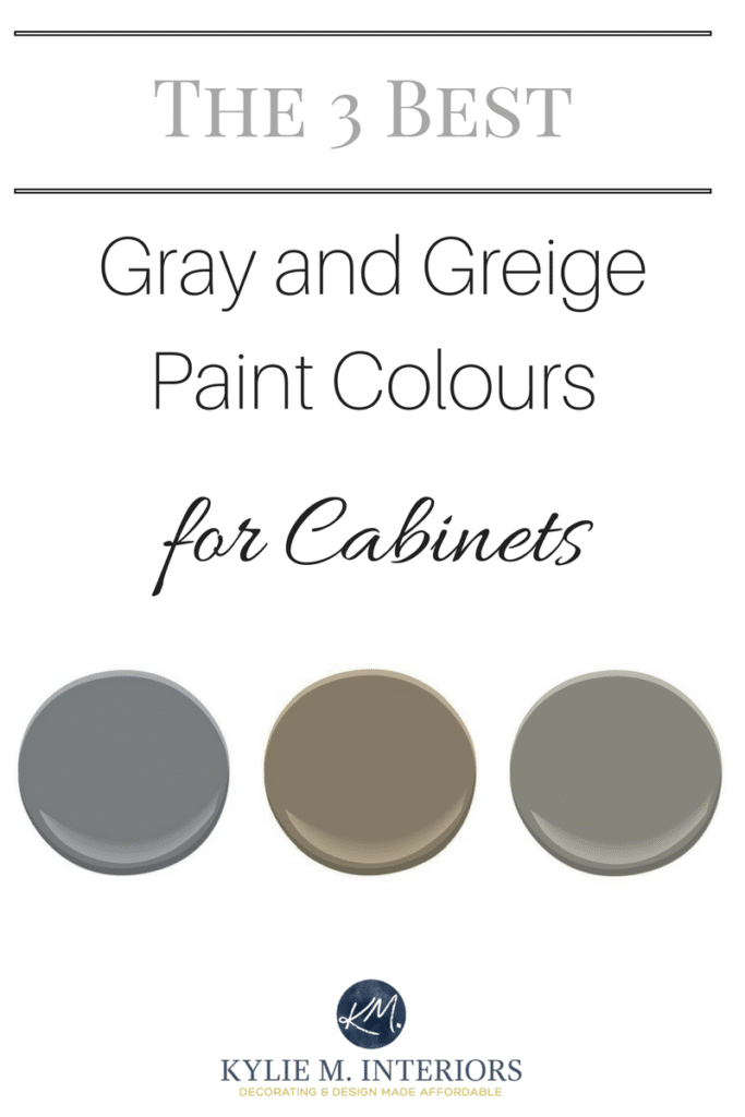 The Best Gray And Greige Colours For Cabinets And Vanities - Best grey color for kitchen cabinets