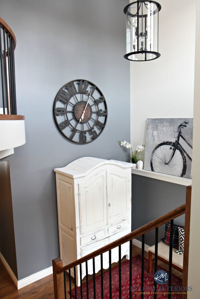 Large Clock In Foyer : Storey foyer entryway with round large clock white