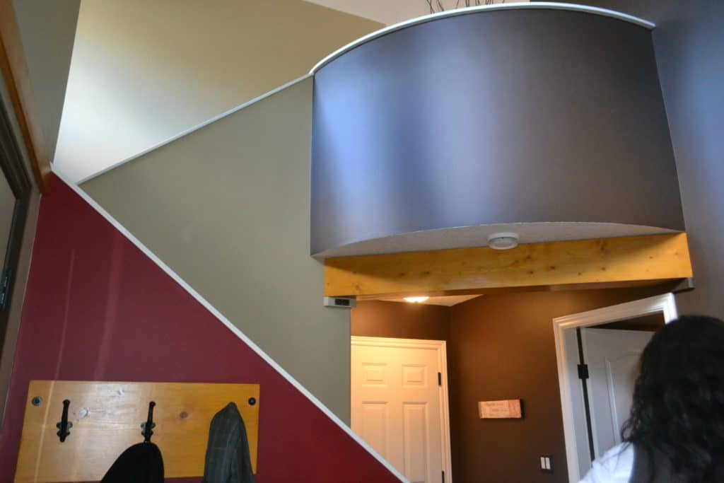 Before entryway, 2 storey foyer remodel with curved wall