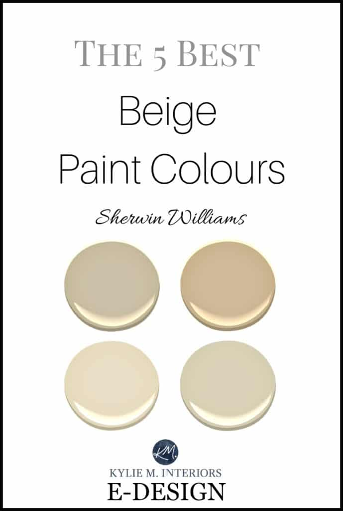 Best Sherwin Williams beige, tan and neutral paint colours. Kylie M E-design