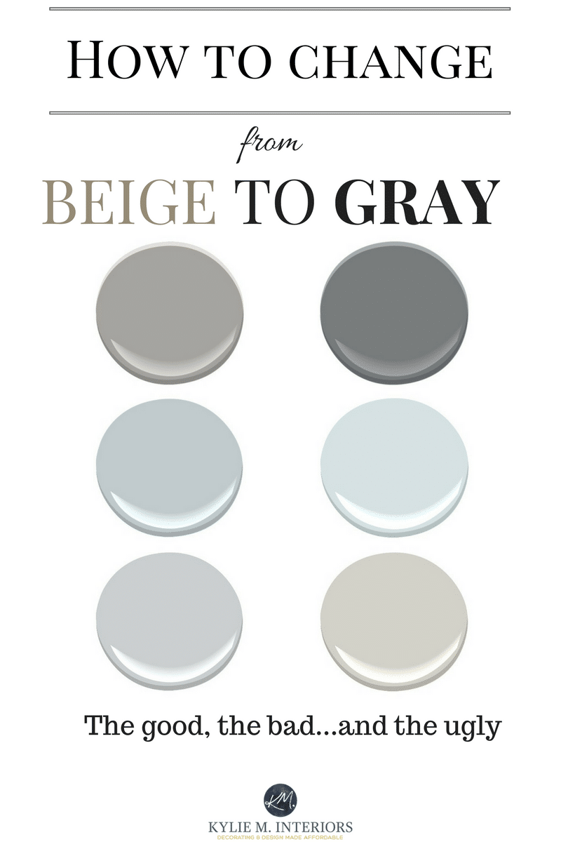 how to change from beige to gray or greige paint colours or home decor by kylie m interiors e. Black Bedroom Furniture Sets. Home Design Ideas