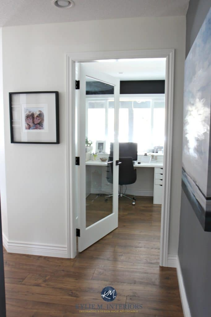 French door to home office. Sherwin Williams Creamy