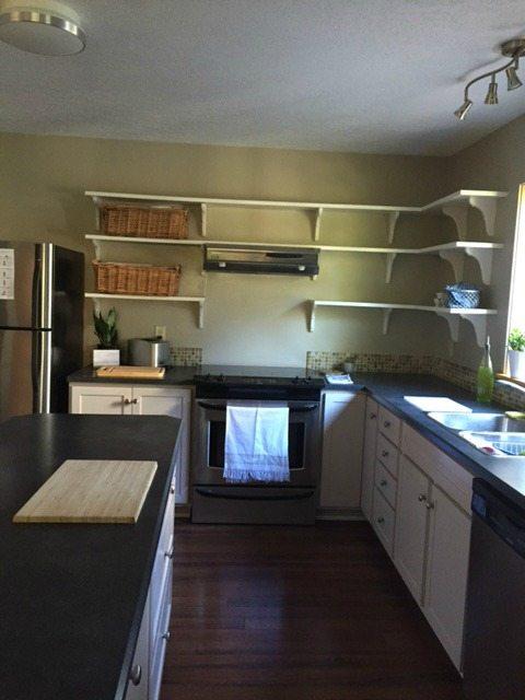 Kitchen before being updated