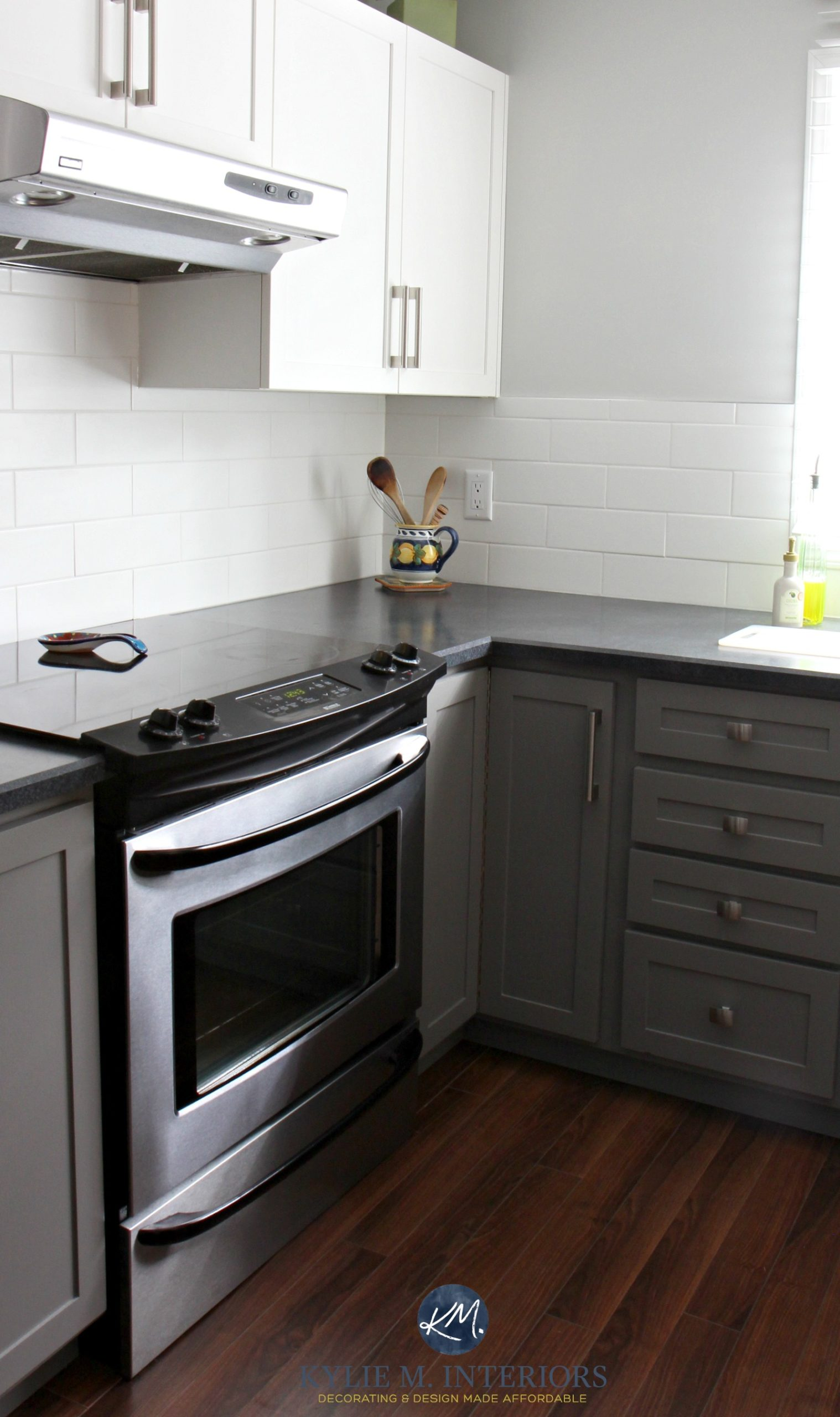Gray Wood Tile In Kitchen