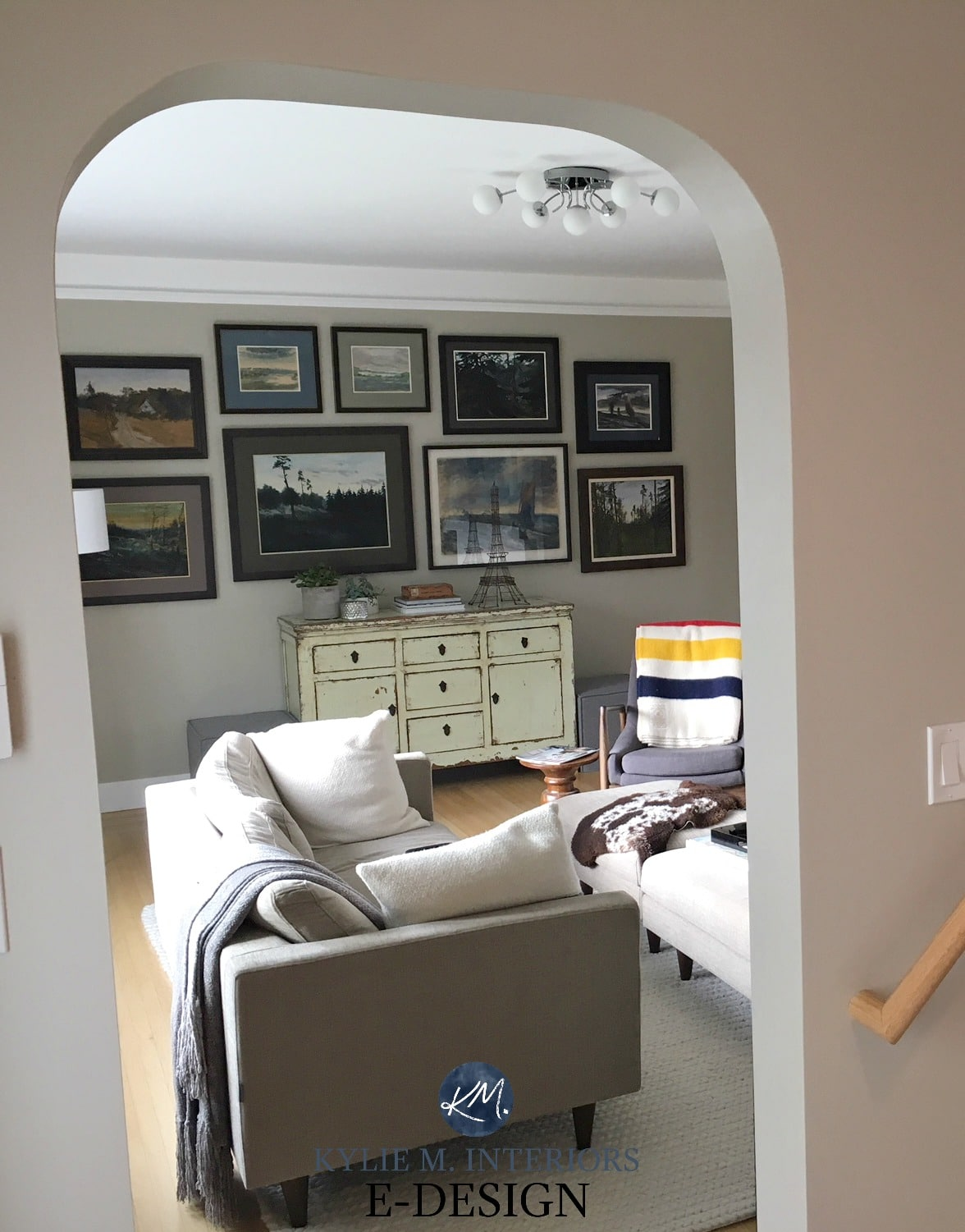 Living Room Benjamin Moore Grant Beige With Photo Gallery, Before Kylie M  E Design, Online Paint Colour Expert