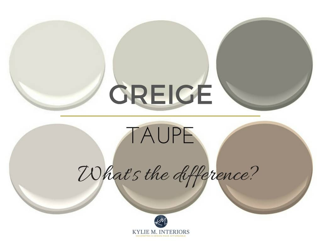 The difference between greige and taupe paint colours for Grey beige paint color