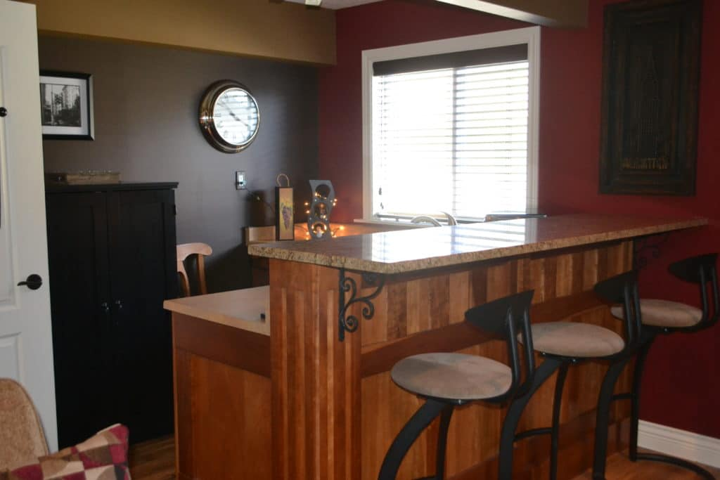 Our Family Room The Home Bar Part 2