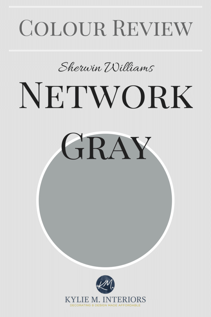 Paint colour review, Sherwin Williams Network Gray. Kylie M E-design and Online color expert.jpg