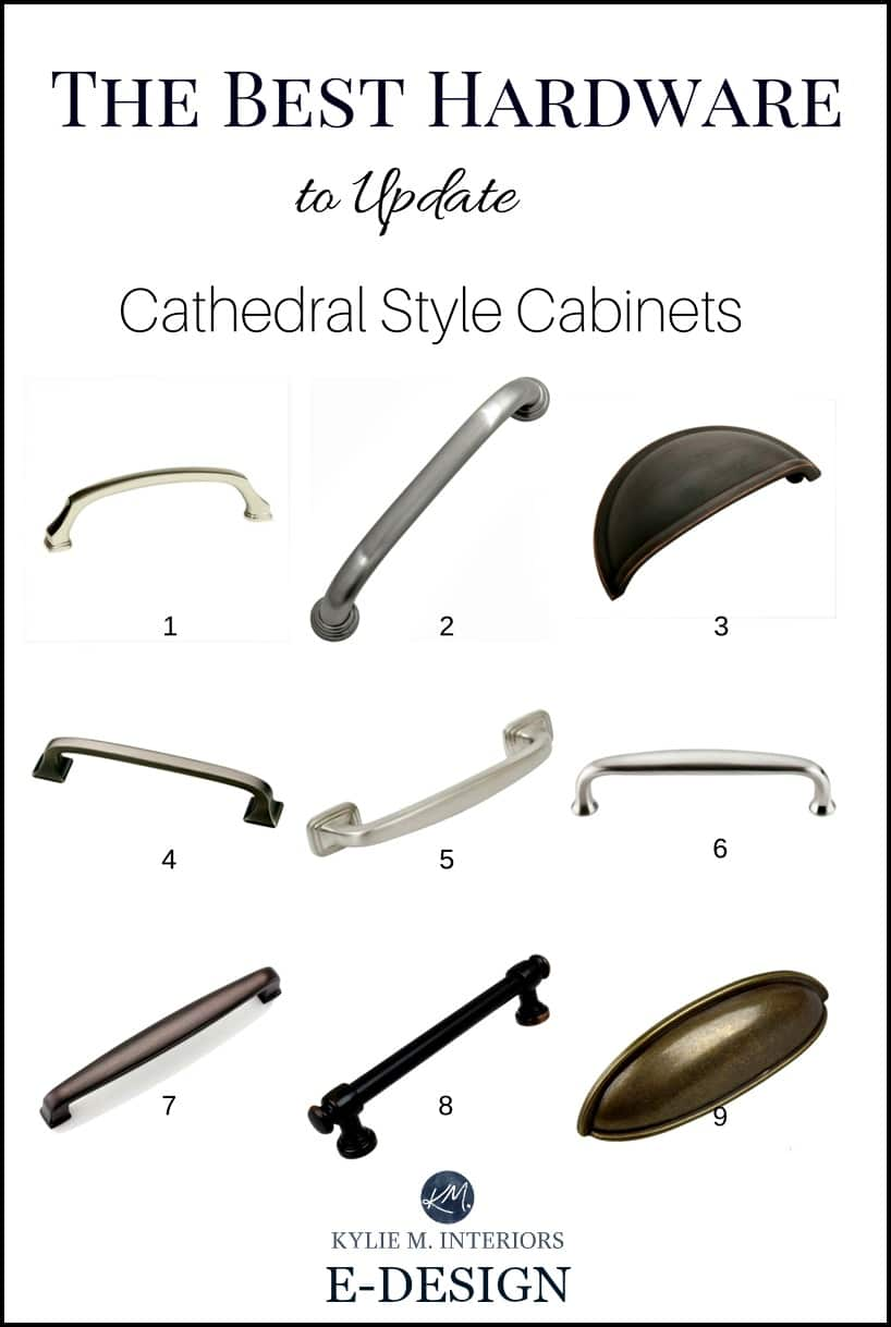 The Best Cabinet Hardware, Pulls, To Update Cathedral Style Oak Or Wood  Cabinets In Kitchen. Kylie M INteriors E Design (1)
