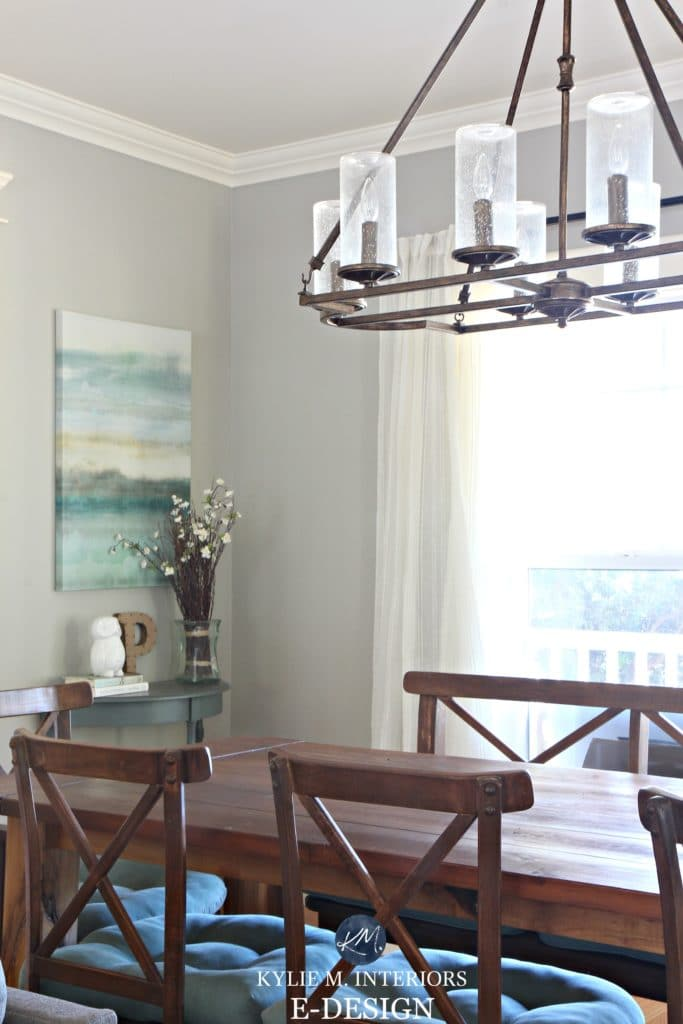 Benjamin Moore Revere Pewter in dining room. Kylie M E-design