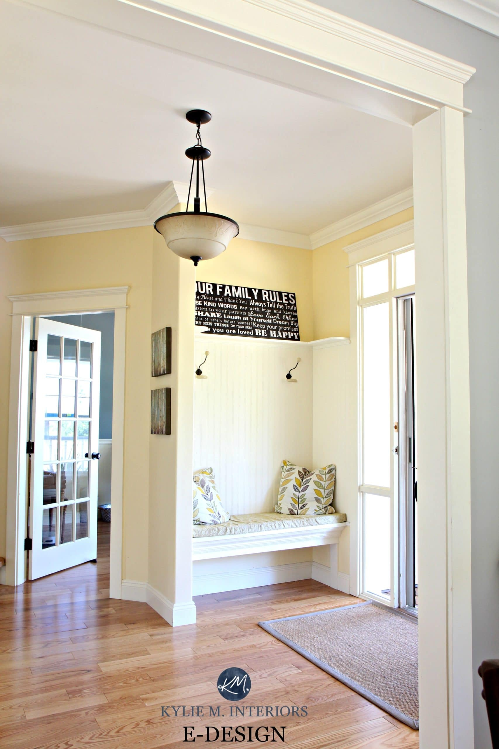 Foyer Paint Benjamin Moore : Best yellow paint colour benjamin moore buttermilk oak