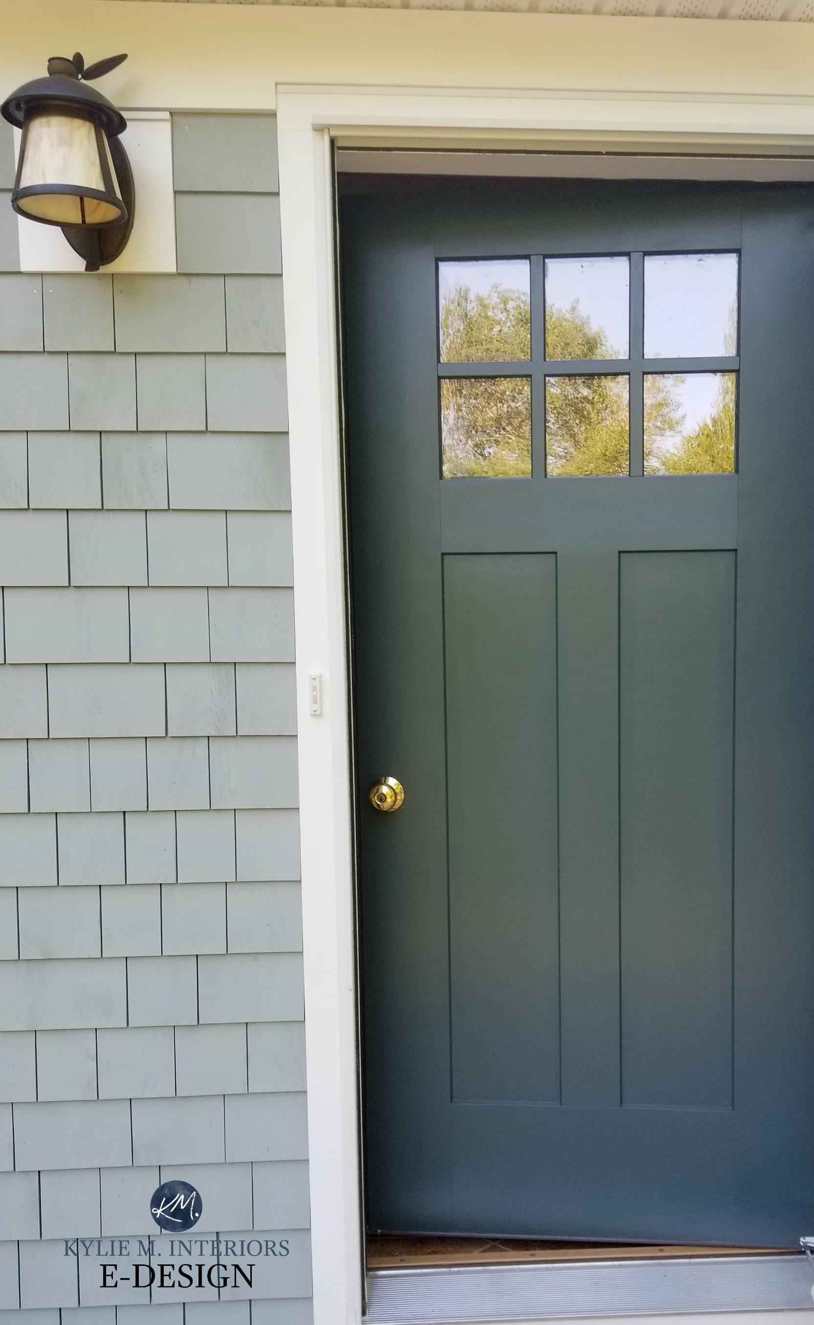 Front Door Craftsman Style Painted Benjamin Moore Dark