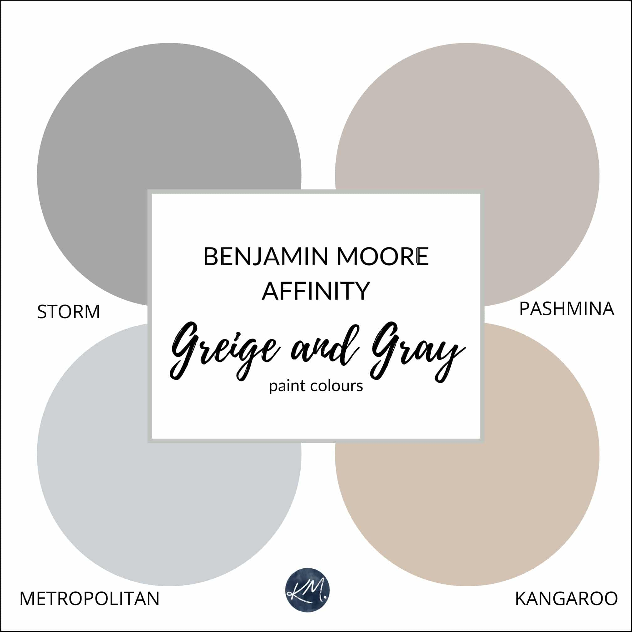Benjamin Moore Affinity The Best Neutral Beige Greige Gray Paint Colours