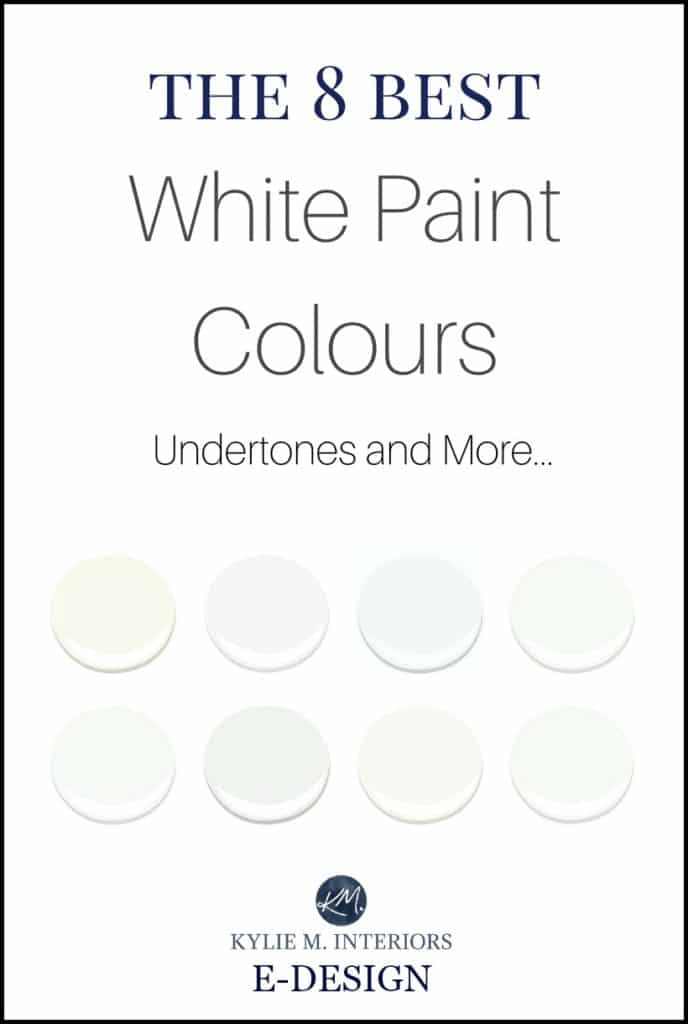 The best white paint colours, Benjamin Moore, Undertones and LRV. Kylie M E-design and online color consultant expert