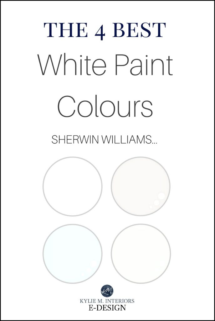 Sherwin Williams, best white paint colours, cabinets, trim, walls. Kylie M E-design, online color consulting expert