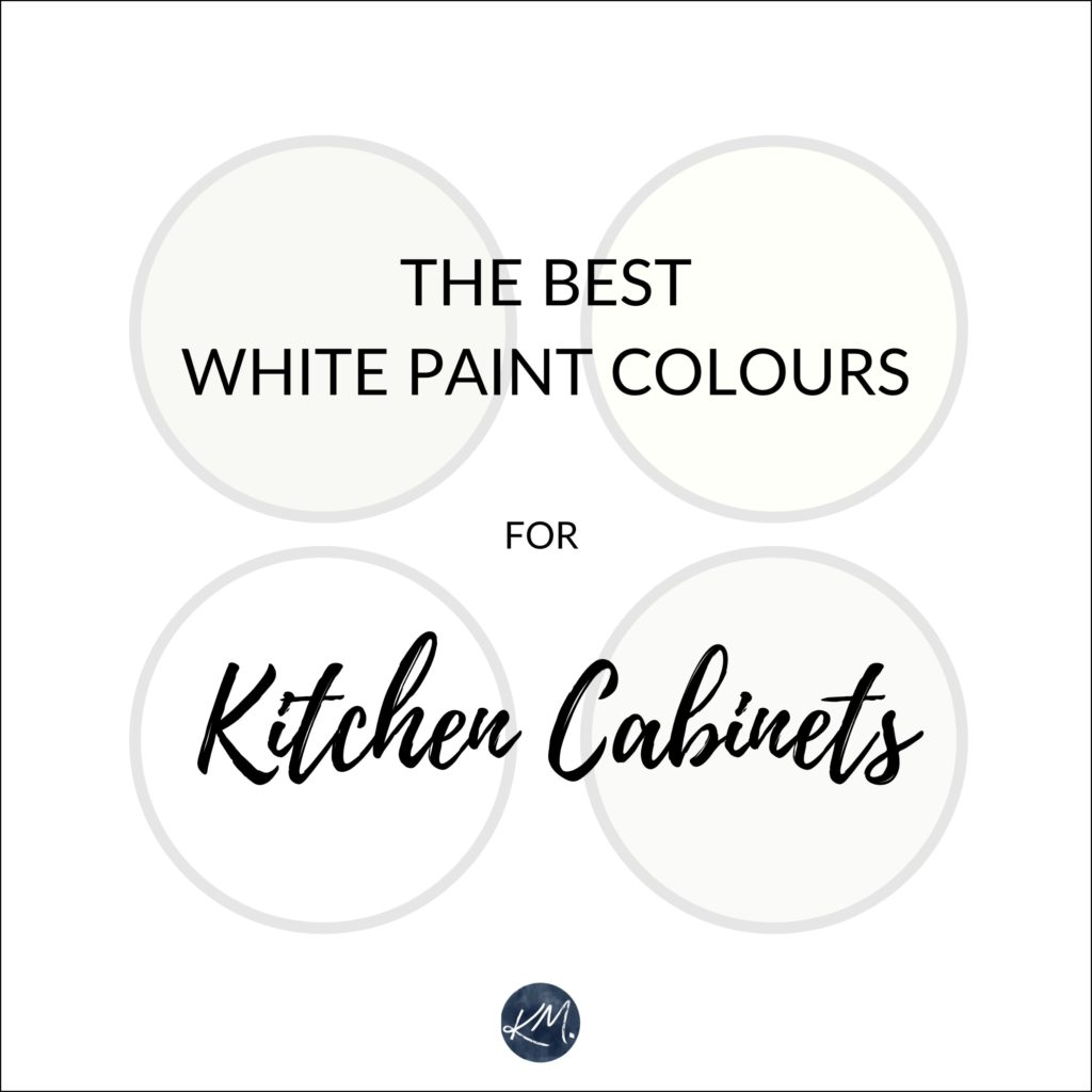 The best white paint colours, Benjamin Moore or Sherwin Williams for kitchen cabinets. Kylie M Interiors Edesign, virtul online colour consultant