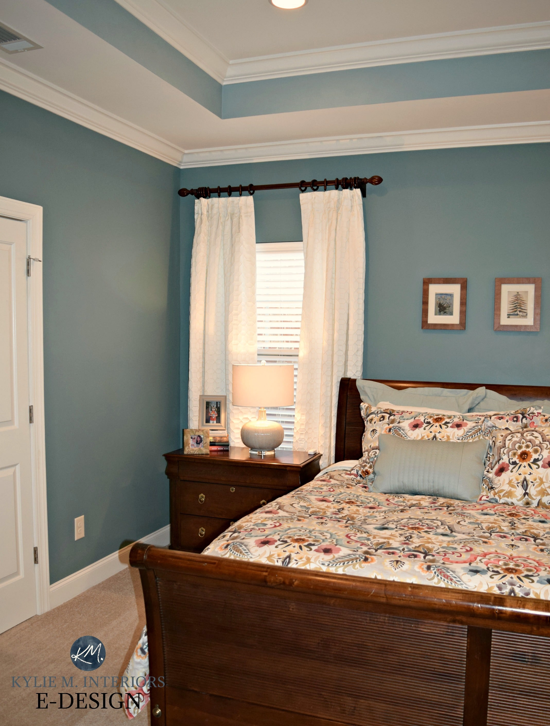 Interesting Living Room Paint Color Ideas: Kylie M E-design, Sherwin Williams Moody Blue And