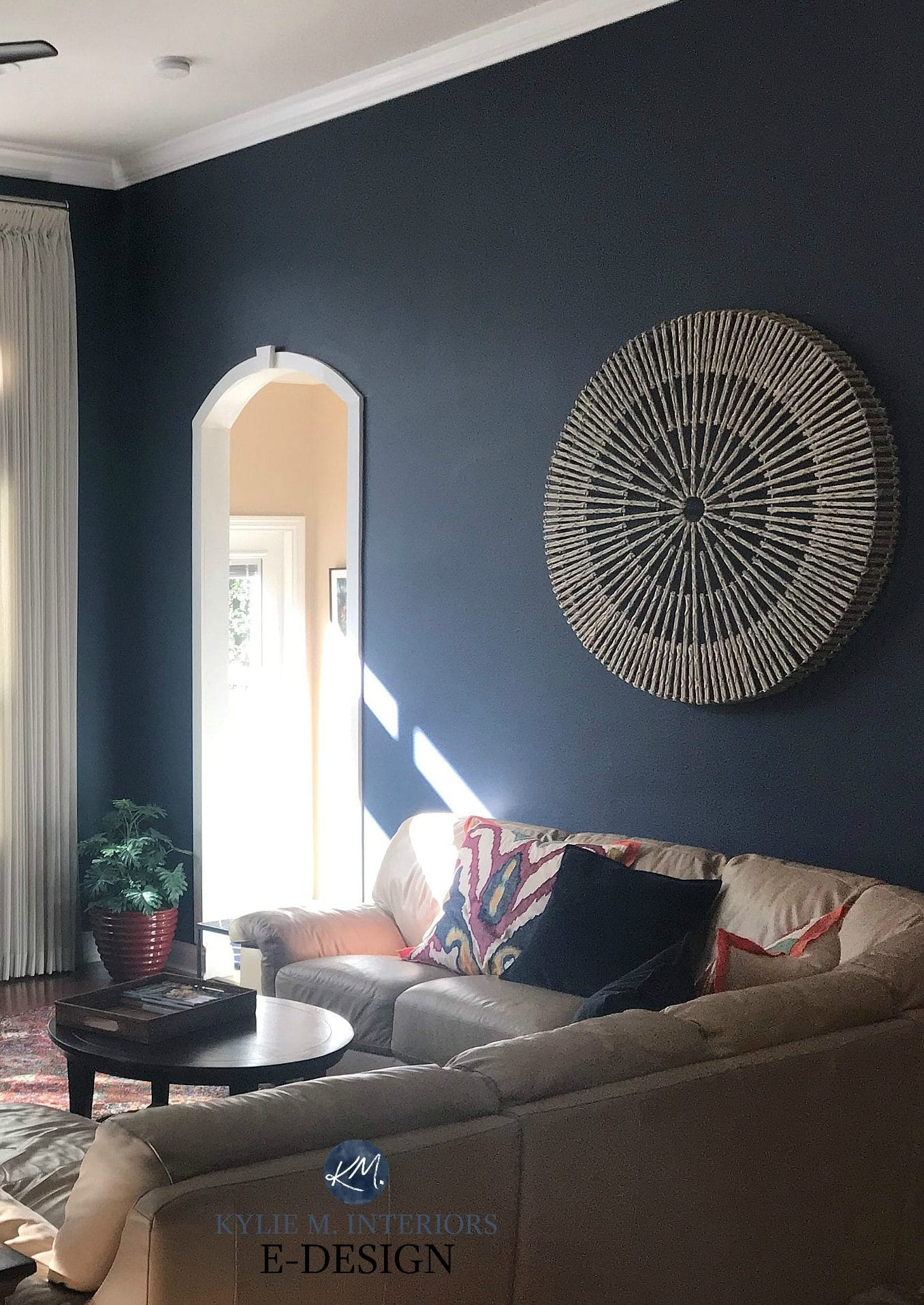 Benjamin Moore Hale Navy With Beige Sectional Best Dark Blue Paint Colour Kylie M Interiors Edesign Online Color Consultant