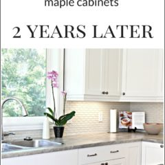 Our Painted Maple Cabinets – 2 Years Later