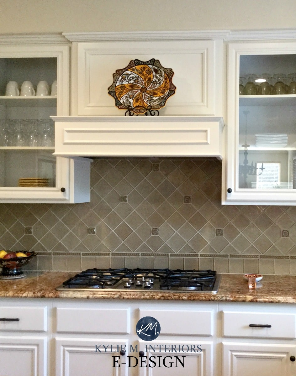 Kitchen maple wood cabinets painted White Down Benjamin ... on Maple Cabinets With White Granite Countertops  id=90928