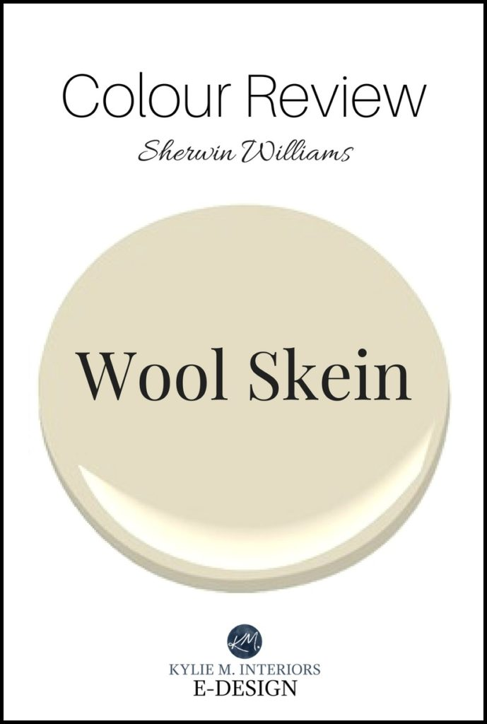 Kylie M Interiors paint colour review of Sherwin Williams Wool Skein, best beige, tan paint colour with undertones and lRV. E-design, online paint colour expert and blogger