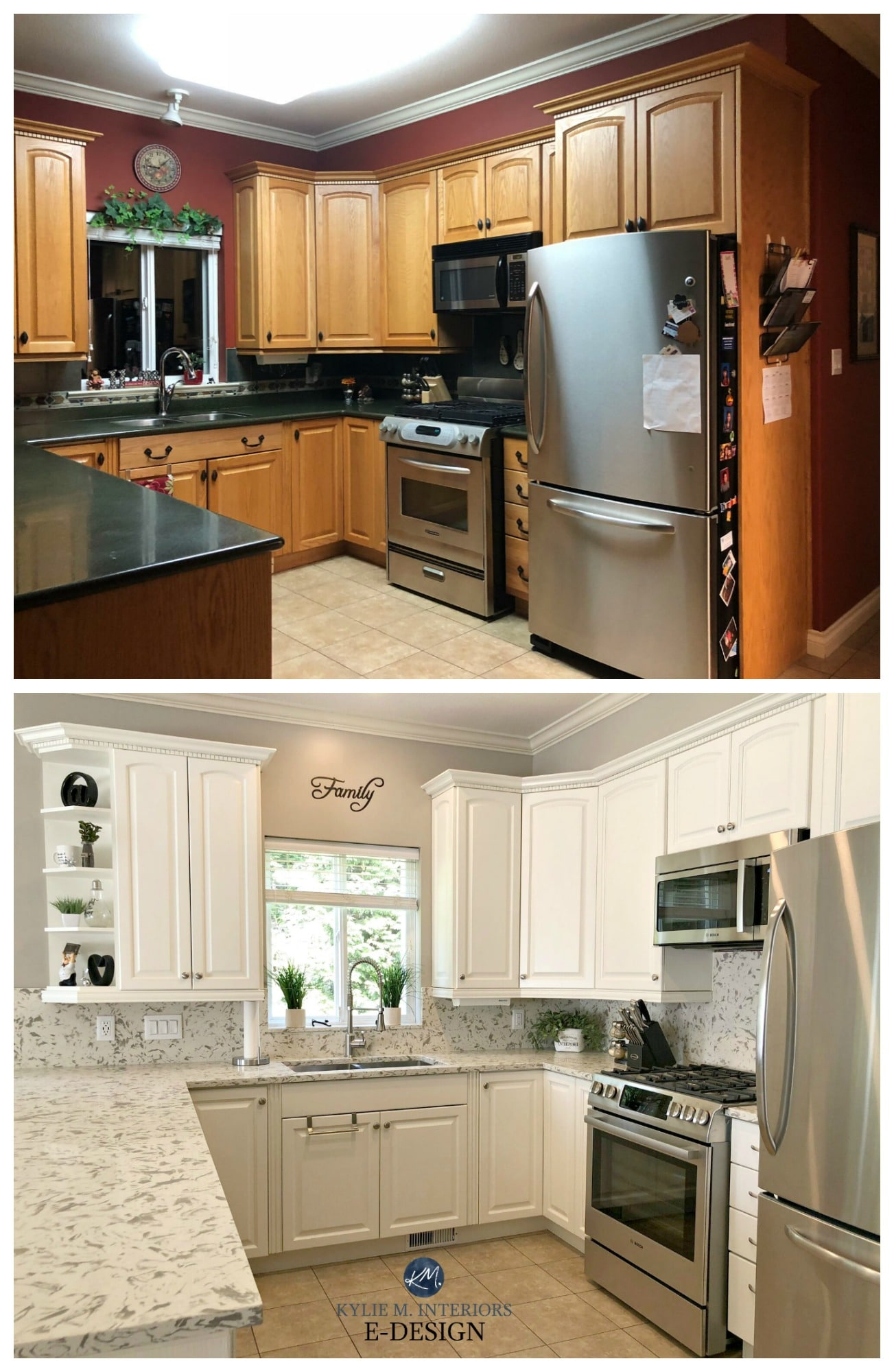 Oak kitchen cabinets, Kylie M Interiors Edesign, Online ...