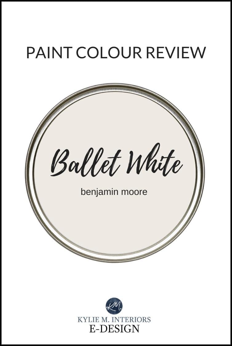 Paint color review, best cream greige blend paint colour, Benjamin Moore Ballet White. A popular neutral. Kylie M Interiors Edesign, edecor, online colour expert