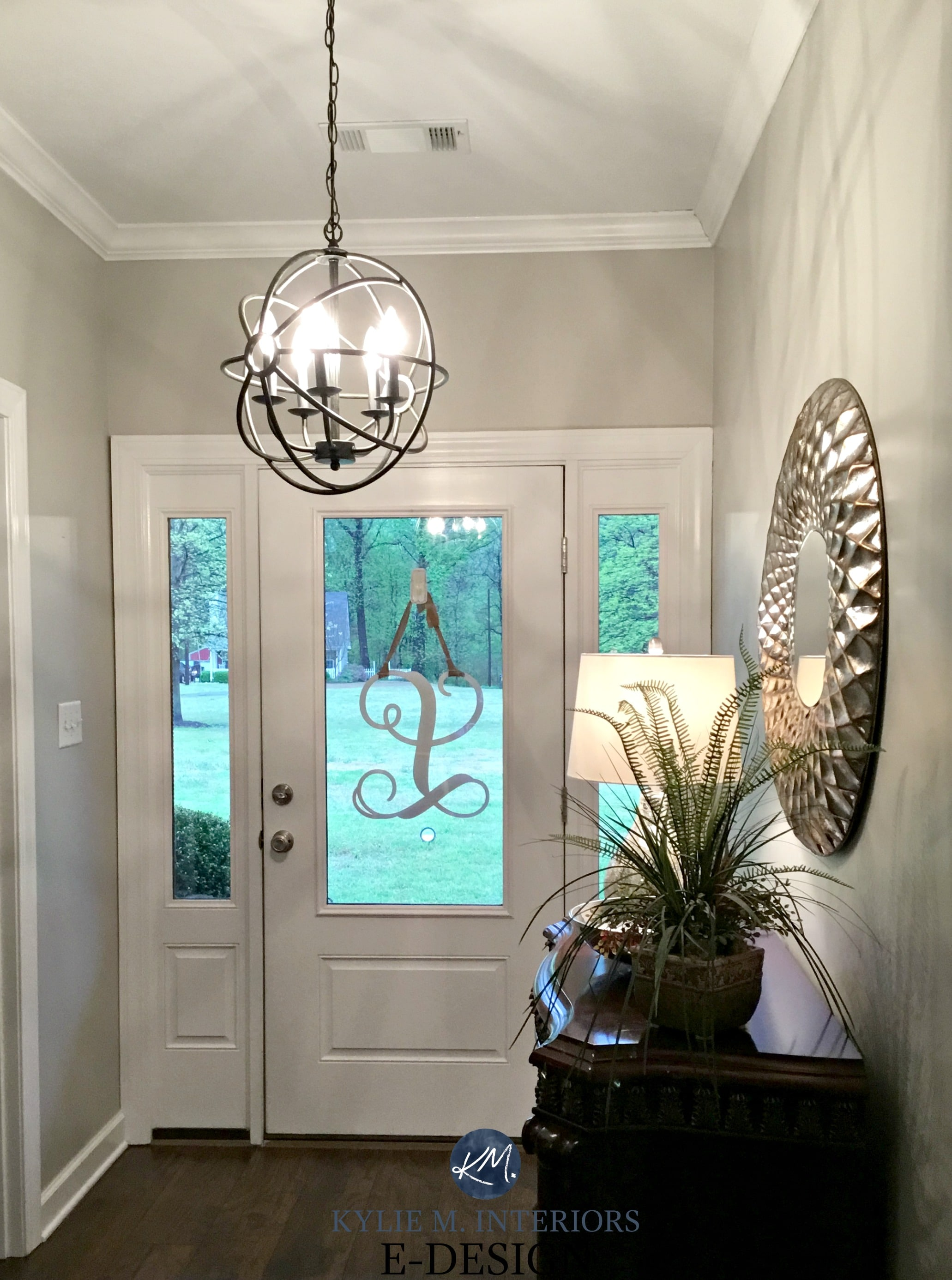 Sherwin williams anew gray entryway greige paint colour - Best foyer colors 2018 ...