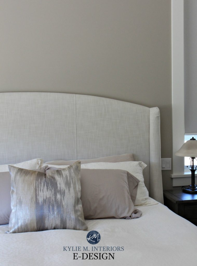 Sherwin Williams Balanced Beige, best greige paint colour. Bedroom. Kylie M INteriors Edesign, online paint color consulting