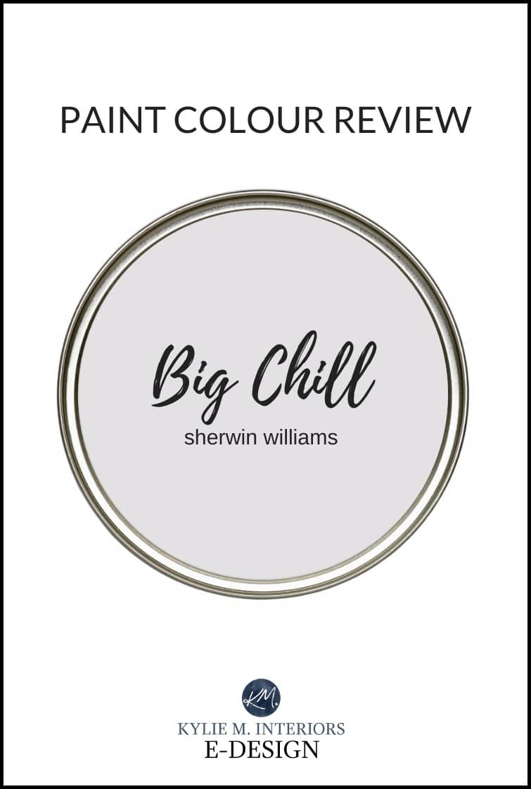 The best gray paint colour, Sherwin Williams Big Chill, a popular neutral. Kylie M Interiors paint color review of grey. Edesign, online and virtual paint colour consultant