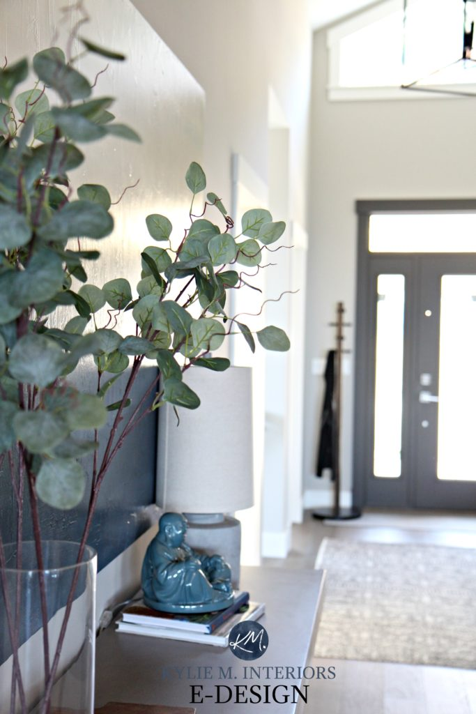 Kylie M INteriors Edesign, home decor in entryway