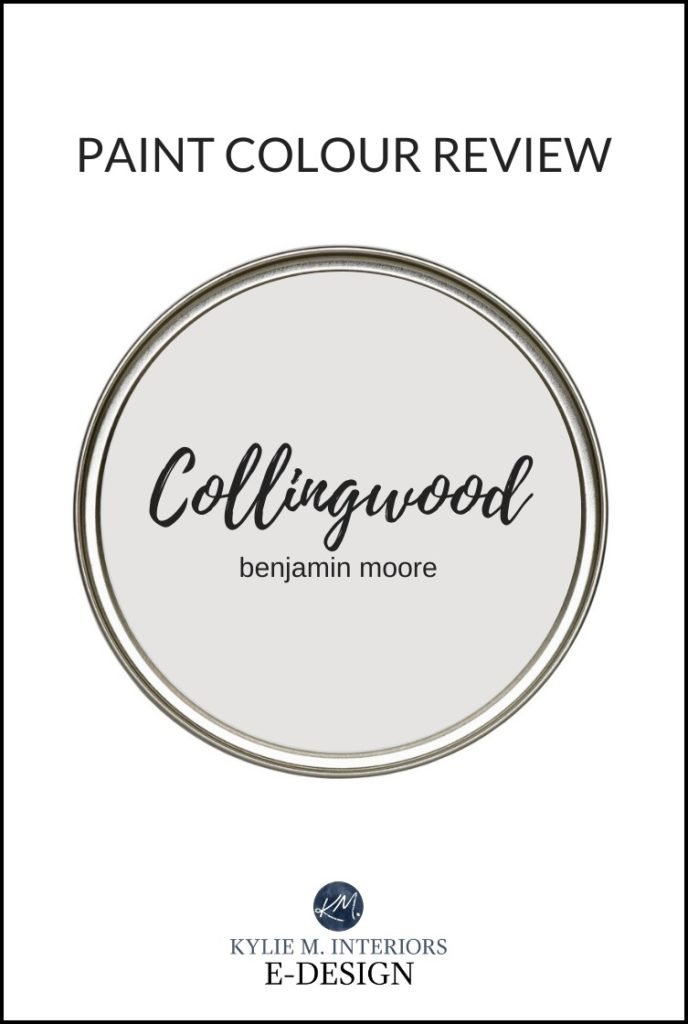 Paint colour review, popular warm gray paint colour, Benjamin Moore Collingwood. Best paint color reviews by Kylie M Interiors Edesign, online paint color expert