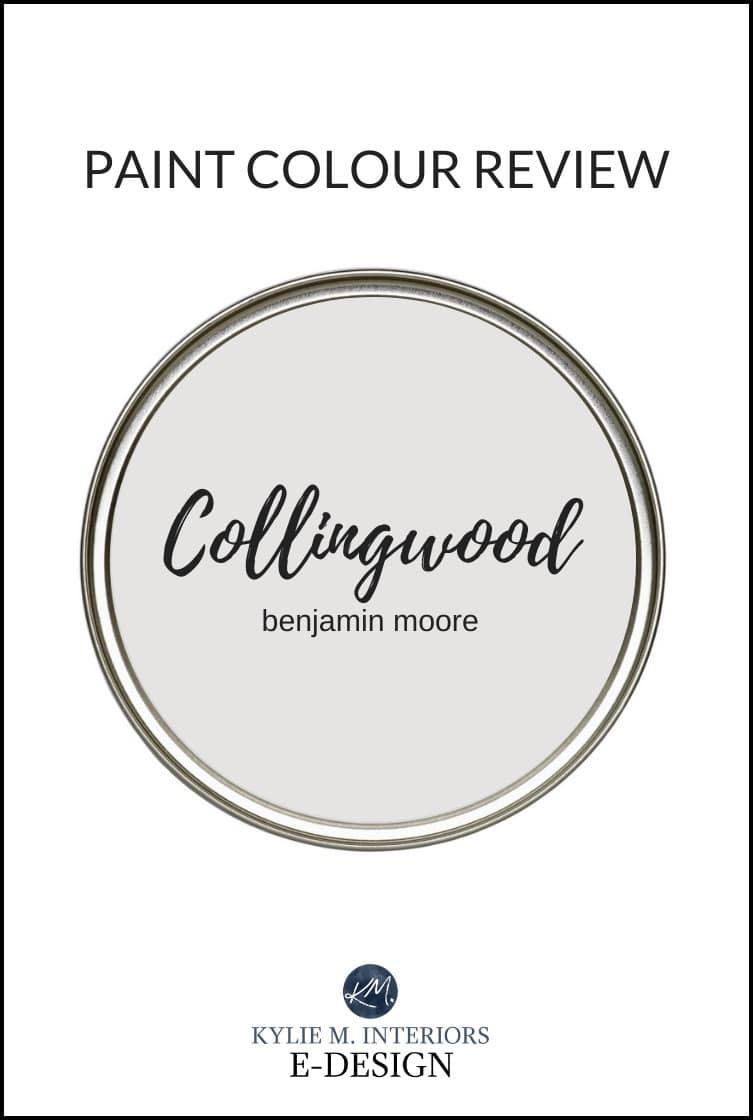 Paint colour review, popular warm gray paint colour, Benjamin Moore Collingwood. Best paint color reviews by Kylie M Interiors Edesign, online paint color expert