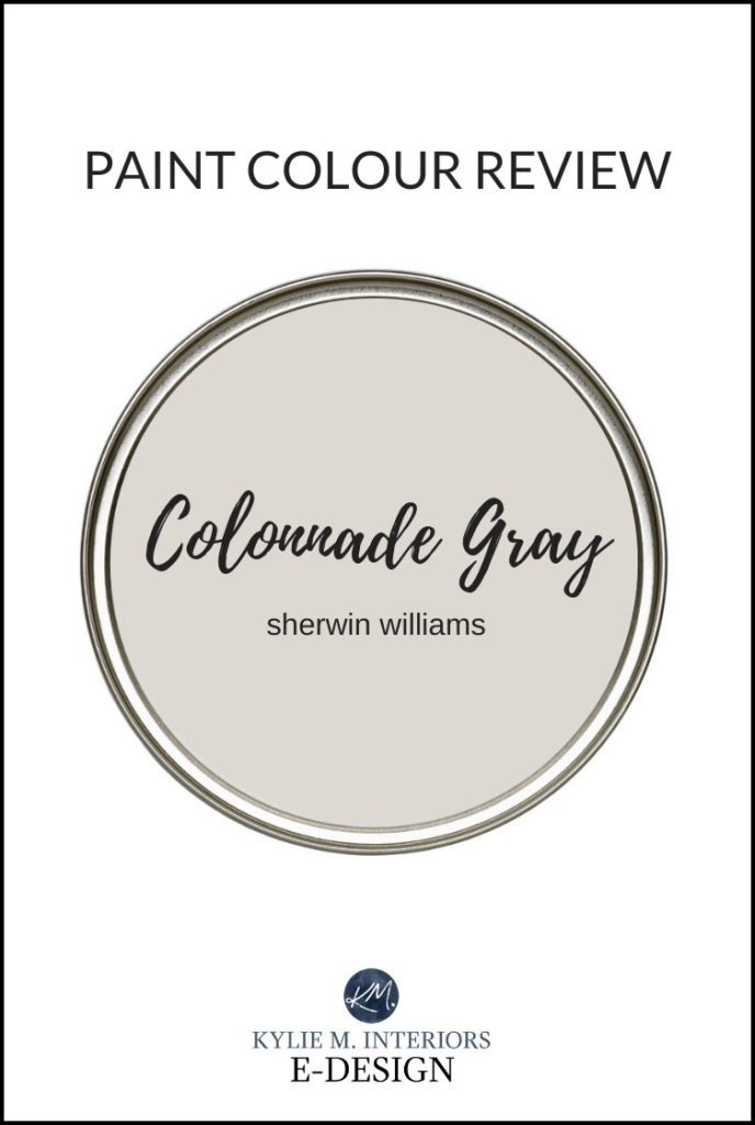 Sherwin Williams Colonnade Gray, one of the best warm gray greige paint colours. Paint color review by Kylie M Interiors Edesign, online, paint colour expert and virtual consultations