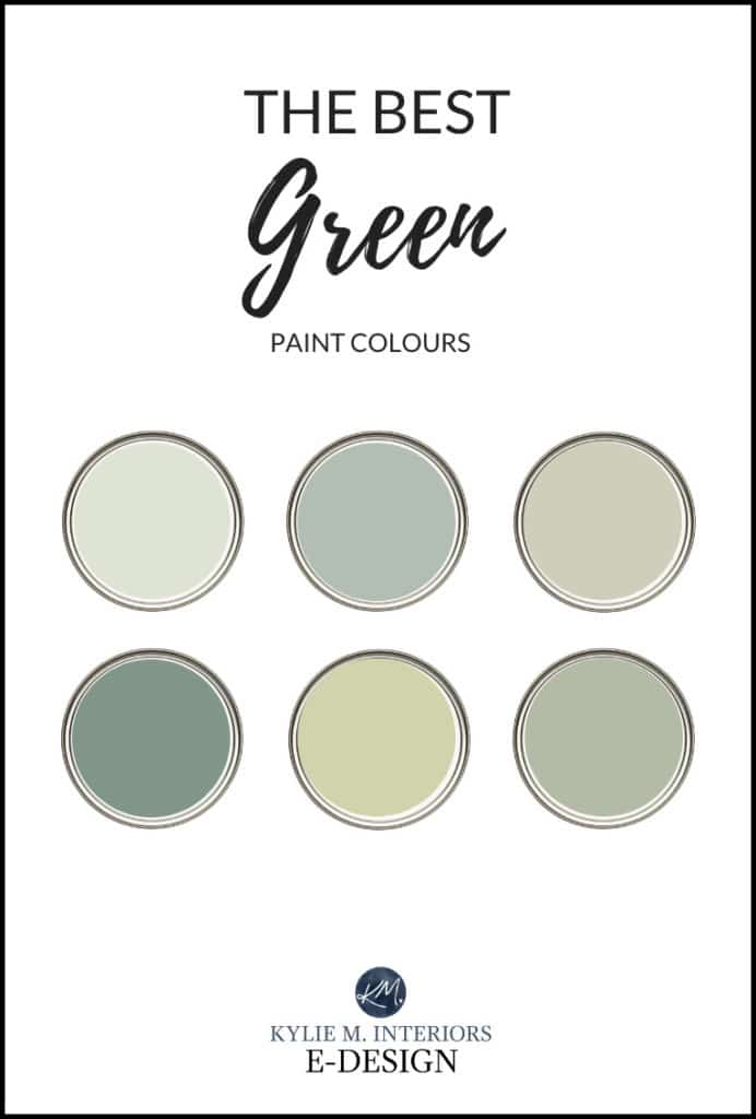 The best green paint colours, Benjamin Moore. Kylie M Interiors Edesign edecor, online paint colour consulting blog