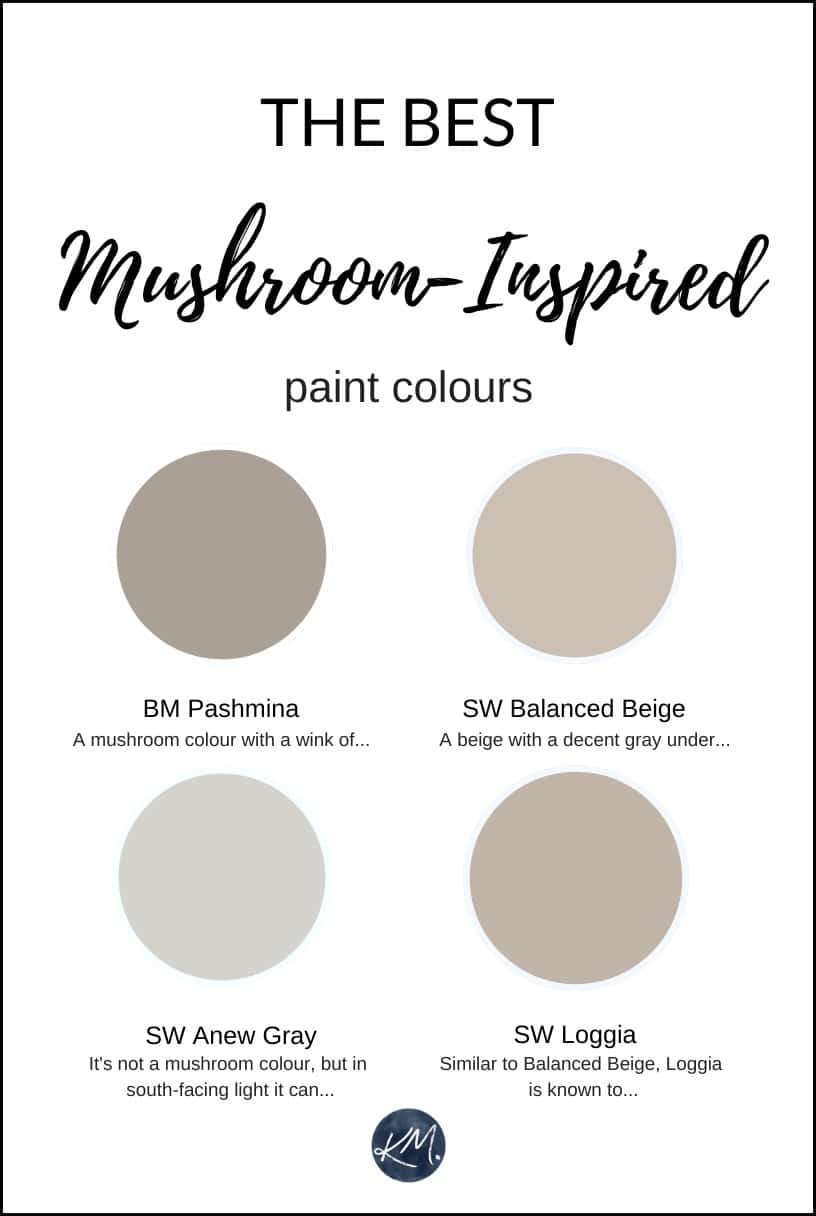 Virtual Design Living Room: The Best Mushroom, Taupe Greige Paint Colours From