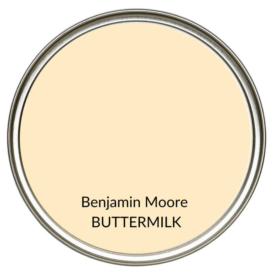Best farmhouse country yellow cream paint colour, Benjamin Moore Buttermilk. Kylie M Interiors, Edesign, online color consulting and advice blogger (1)