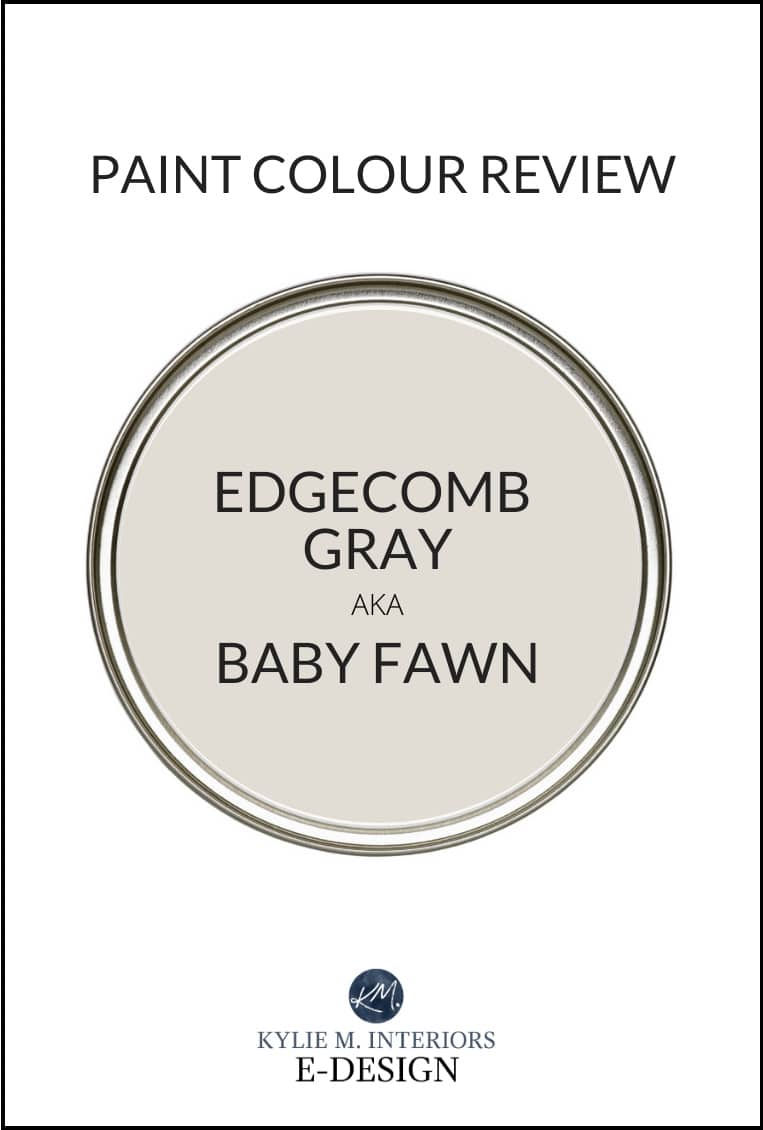 Best greige neutral paint colour, Edgecomb Gray (Baby Fawn) Benjamin Moore. Review by Kylie M Interiors Edesign, online colour consultant