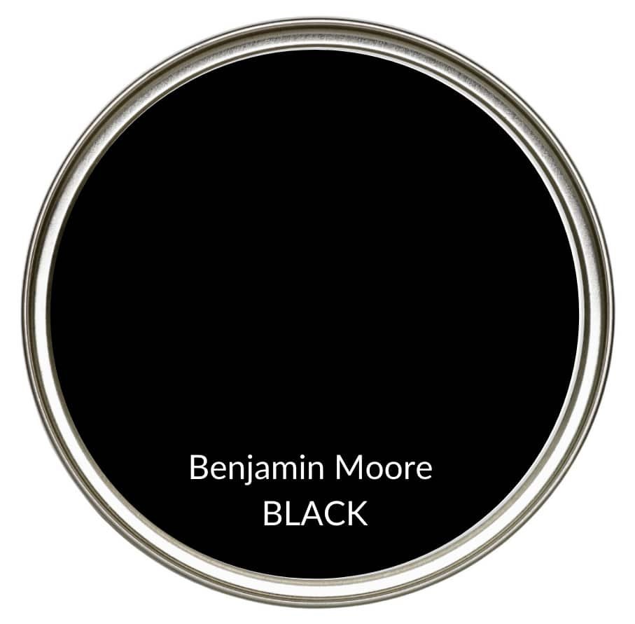 Best modern farmhouse country paint colors. Benjamin Moore Black. Kylie M Interiors Edesign, online advice blogger