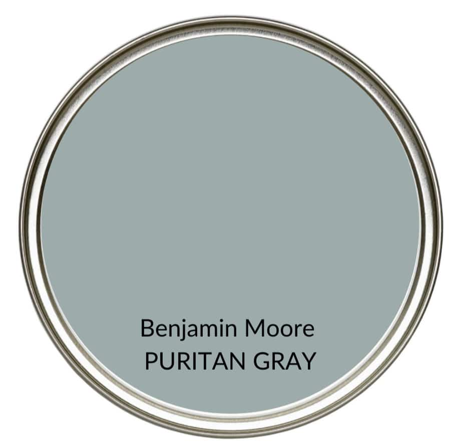 Best modern farmhouse country paint colors. Benjamin Moore Duxbury Gray, gray. Kylie M Interiors Edesign, online advice blogger